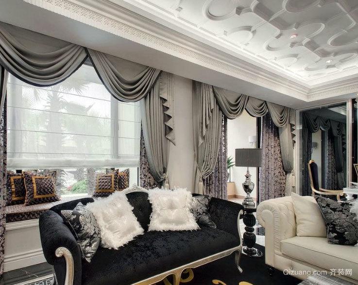 给您以高贵:高档客厅窗帘装修效果图欣赏图集