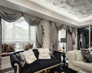 别墅奢华大窗帘装饰