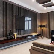 后现代风格深色电视墙设计