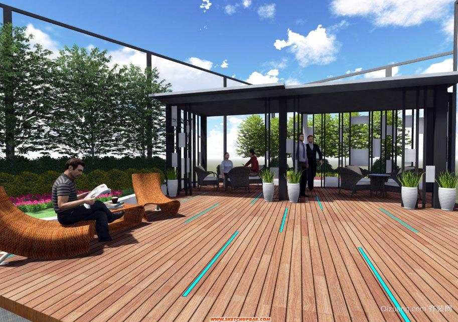 小户型家装时尚屋顶花园设计效果图欣赏案例
