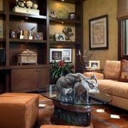 客厅整体型博古架设计