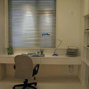 简约风格书房一字型桌子
