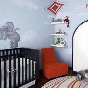 儿童房彩绘墙饰装修