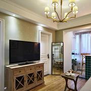 欧式简约风格客厅电视柜设计