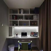白色简约风格书房电脑桌