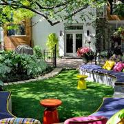 花园石制沙发设计