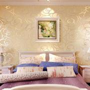卧室印花背景墙设计