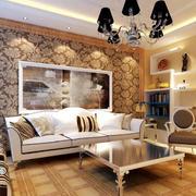 欧式客厅沙发背景墙装修
