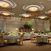 大型饭店圆形吊顶灯饰