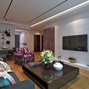 后现代风格客厅电视墙设计