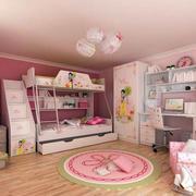 粉色简约儿童房多功能床饰