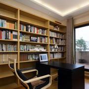 大型原木书房书柜装修