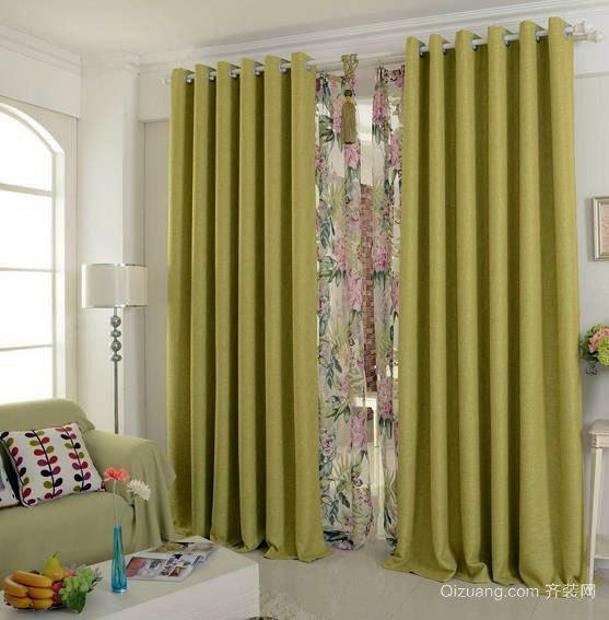 大户型客厅隔音窗帘装修效果图全集
