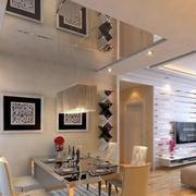 后现代风格餐厅隔断设计