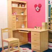 原木装修整体学习桌设计
