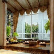欧式阳台大型窗帘设计