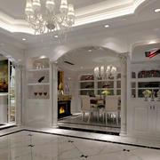 别墅客厅欧式酒柜设计