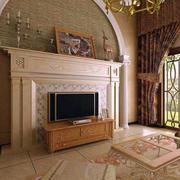 美式客厅罗马柱装修