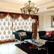 欧式奢华精美客厅窗帘设计