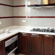 开放式L型厨房装饰