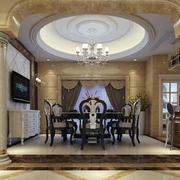 别墅客厅罗马柱设计