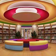 书店简约风格圆形吊顶