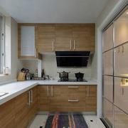 日式原木L型小厨房