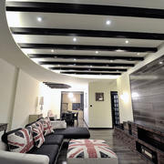 三室两厅美式原木吊顶设计