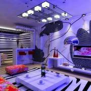 小户型紫色客厅装修设计