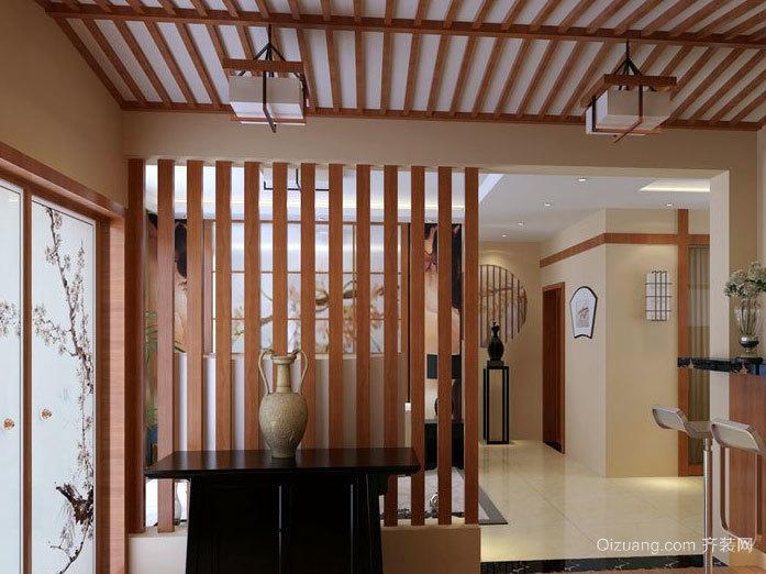 大户型家居:中式客厅屏风隔断装修效果图欣赏案例