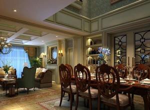 小别墅自配法式浪漫餐厅装修效果图