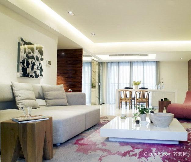 120平米现代简约风格新房装修效果图