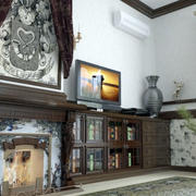 客厅整体橱柜装饰