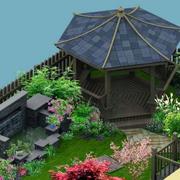 花园木亭设计