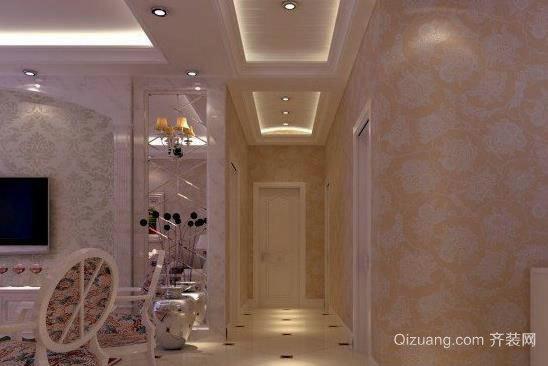三居室走廊过道吊顶装修效果图一览