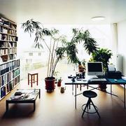 书房简约风格电脑桌设计