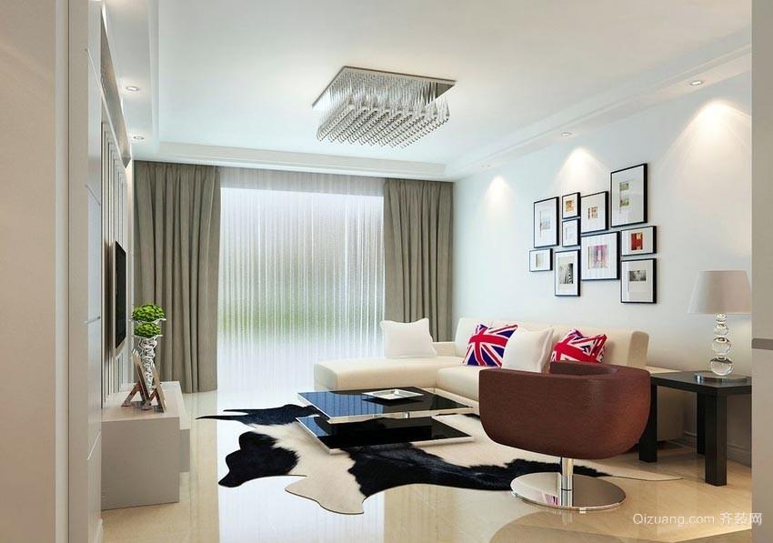 调节室内光线的各种样式大户型客厅窗帘装修效果图