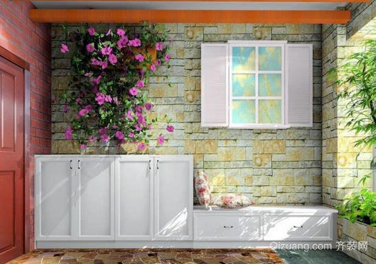 简约时尚型家装:玄关柜装修效果图