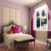 欧式卧室软包床头设计
