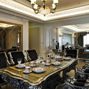 欧式奢华餐桌装修