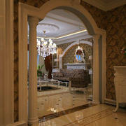拱形门简约风格罗马柱设计