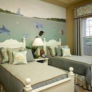 简欧风格儿童房床饰设计