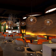 咖啡厅创意灯饰装修