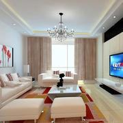 浅色客厅地砖效果图欣赏