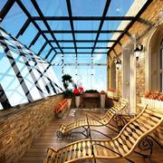大型玻璃挡板阳光房设计