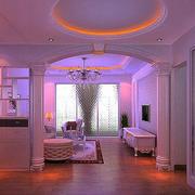 简欧风格客厅罗马柱设计