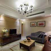 简约风格客厅电视墙设计
