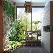 中式别墅入户花园设计