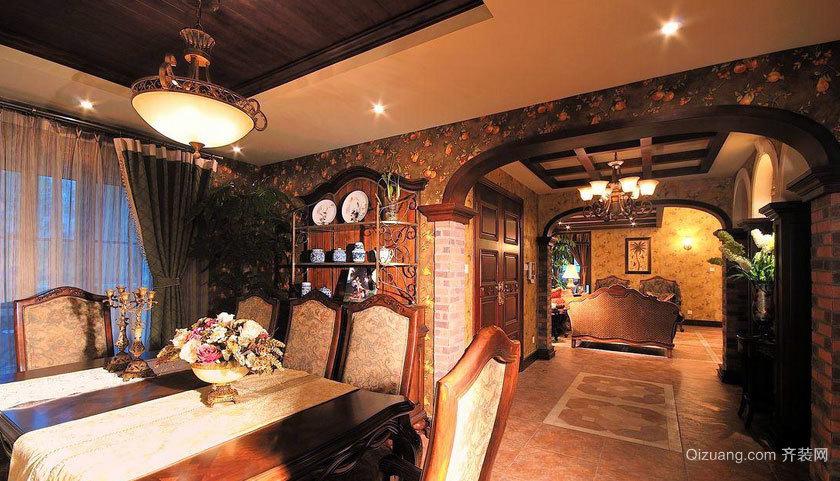 110平米家庭室内装潢设计效果图