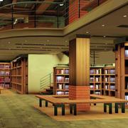 原木色复式书店布置